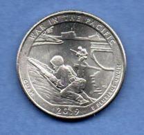 USA -  1/4  Dollar  --  War In The Pacific 2019  -- état  SPL - Emissioni Federali