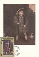 D38418 CARTE MAXIMUM CARD 1967 KATHIRI - MASTER CREWE AS HENRY VIII BY REYNOLDS CP ORIGINAL - Künste