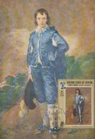 D38419 CARTE MAXIMUM CARD 1967 KATHIRI - BOY IN BLUE BY THOMAS GAINSBOROUGH CP ORIGINAL - Künste