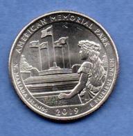 USA -  1/4  Dollar  --  American Mémorial Park 2019  -- état  SPL - Emissioni Federali