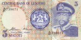 LESOTHO  P. 5a 5 M 1981 UNC - Lesoto