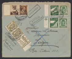 Timbre Publicitaire - PU75, 86, 91 Et 97 Sur Lettre Expédié De Eupen (1937) Vers Saïgon (Cochinchine) / Verso ! - Werbung