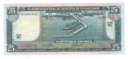 El Salvador 25 Colones 1996.  AUNC/UNC. - Salvador