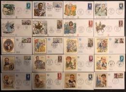 France - FDC - Premier Jour - Lot De 20 FDC - Thématique Personnages Célèbres - 1969 - FDC