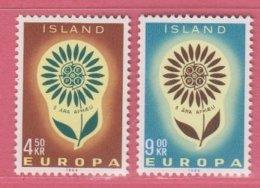 1964 ** Islande  (sans Charn., MNH, Postfrish)  Yv. 340/1   Mi 385/6 - Unused Stamps