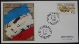 B101 Cachet Temporaire Bischwiller 67 Bas Rhin Anniversaire De La Libération 9 Décembre 1994 - Storia Postale