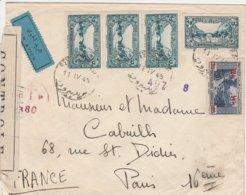 Liban Lettre Censurée Pour La France 1945 - Lebanon