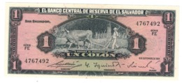El Salvador 1 Colon 1964.  XF/aUNC. Rare. - Salvador