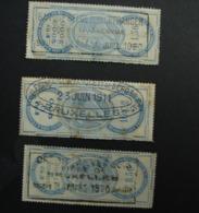 Fisc. 1. Trois Timbres Fiscaux De  1911 Et 1920 - Steuermarken