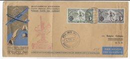 1946 - PA YVERT N°12/13 Sur ENVELOPPE Par AVION VOL SPECIAL SABENA BELGIQUE - ETATS UNIS ! De BASTOGNE MEMORIAL ! - Covers & Documents