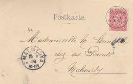 Relais Heppen 14/08/1900 Vers Malmedy (cantons De L'est) - Postmarks With Stars