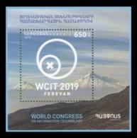 Armenia 2019 Mih. 1126 (Bl.98) World Congress Of Information Technology In Yerevan. Mountains MNH ** - Armenia