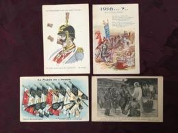 LOT DE 4 CARTES POSTALES GUERRE 14/18.   /40/ - Guerra 1914-18