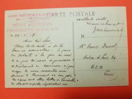 Ancienne Chartreuse De Notre Dame De Mougères - Caux - Hérault - Dépôt D'officiers Prisonniers De Guerre - Marcofilie (Brieven)