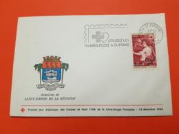 Premier Jour - CFA Réunion - Croix Rouge 1968 - Nicolas Mignard : L'automne - Saint Pierre - 15/12/1968 - N°382 - FDC