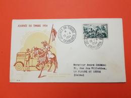 Premier Jour - Maroc - Journée Du Timbre 1954 - Casablanca - 10/4/1954 - Relais De La Poste Automobile Rurale - FDC