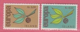 1965 ** Islande  (sans Charn., MNH, Postfrish)  Yv  350/1Mi  395/6FA  432/3 - Unused Stamps