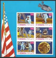 Yemen,Apollo XI-Landing On The Moon1969.,mini Sheet-imperforated,MNH - Yemen