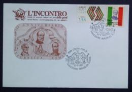 MASSONERIA FREEMASONRY L'INCONTRO DELLE GENTI ROMA BUSTA 1991 4 - Sin Clasificación
