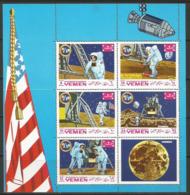 Yemen,Apollo XI-Landing On The Moon 1969.,mini Sheet,MNH - Yemen