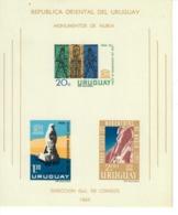 URUGUAY 1964 - MONUMENTI DI NUBIA  - FOGLIETTO  -    MNH** - Uruguay