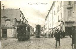 GENZANO 2 Tram Piazza Plebiscito - Strada Animata C. 1908 - Italia