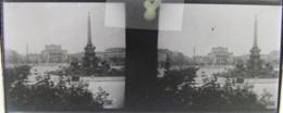 LEIPZIG, 1900 : Augustusplatz. Plaque De Verre Stéréoscopique. Négatif - Glass Slides