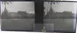 LEIPZIG, 1900 : Augustusplatz. Theater. Plaque Verre Stéréoscopique Négatif - Plaques De Verre