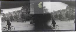 LEIPZIG, 1900 : Rosaplatz, Café Bauer Und Rathaus. Plaque Verre Stéréoscopique Négatif - Plaques De Verre