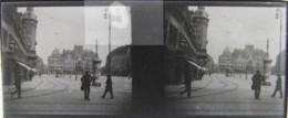 LEIPZIG, 1900 : Marktplatz. Plaque Verre Stéréoscopique Négatif - Plaques De Verre