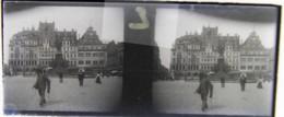 LEIPZIG, 1900 : Restaurant Baarmann, Modehaus. Plaque Verre Stéréoscopique Négatif - Plaques De Verre