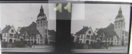 LEIPZIG, 1900 : Church. Plaque Verre Stéréoscopique Négatif - Plaques De Verre