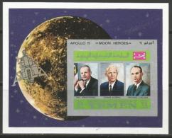 Yemen,Apollo XI-Crew 1969.,block-imperforated,MNH - Yemen