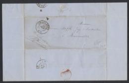 """""""Précurseur"""" - LAC """"Administration Des Chemin De Fer,.."""" Non Affranchie Datée De Charleroi (1864) Vers Marcinelle. - Belgien"""