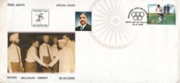 India  2008  Hockey  Bandu Patil 1960 & 1960 Oly Medal Winner Team Member  Special Cover  # 23350   D Inde  Indien - Rasenhockey