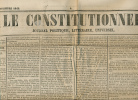 Journal LE CONSTITUTIONNEL, N° 343 (8 Décembre 1848) : Elections,Louis-Napoléon Bonaparte, Nouvelles De France, Etranger - Kranten