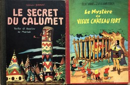 Paire D'albums: Jacques Martin/Le Secret Du Calumet.  E.O De 1947.  Extérieurs BE, Usures Des Coins.  Intérieur En TBE.  - Libros, Revistas, Cómics