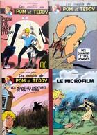 """F. Craenhals/M Deligne: Ensemble De 3 Albums De """"Pom & Teddy"""": Tome 8 - 9 - 10.  Edition De 1977 Limitée à 1000 Exemplai - Libros, Revistas, Cómics"""