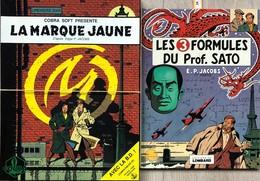 """Blake & Mortimer/Jacobs.  Paire D'albums: -Tome 5 """"La Marque Jaune"""".  Accompagne Dans Un Coffret Le Jeux Video Sur Disqu - Libros, Revistas, Cómics"""