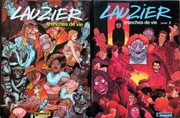 """Lauzier Gérard.  Ensemble De 13 Albums: -""""Tranches De Vie"""": Tomes 1 à 5.  Edition Des Année 70.  TBE -""""Un Certain Malais - Libros, Revistas, Cómics"""