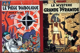 """EP Jacobs/Blake & Mortimer.  Paire D'albums: Tome 3 """"Le Mystère De La Grande Pyramide"""".  EO De 1954.  Bel état D'origine - Libros, Revistas, Cómics"""