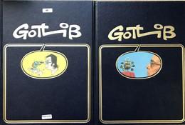 Rare Ensemble De Reliures De Luxe Rombaldi Datant Des Années 1980.  Etat Neuf -Greg: Tomes 1-2-3 -Gotlib: Tomes 1-2-3 -L - Books, Magazines, Comics