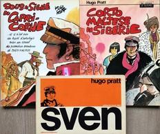 """Hugo Pratt.  Ensemble De 9 Albums Anciens. Corto Maltèse: -""""Sven"""": EO De 1976.  TBE+ -""""Sous Le Signe Du Capricorne"""":  EO - Libros, Revistas, Cómics"""