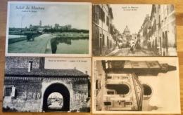 Saluti Da MANTOVA 4 Cartoline C. 1908 Via Carducci Animata Ecc. - Mantova