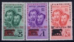 Italy: RSI Sa 512 - 514 Convegno Filatelico Nazionale Venezia 1944  Postfrisch/neuf Sans Charniere /MNH/** - Nuovi