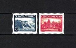 TSCHECHOSLOWAKEI , Czechoslovakia , 1938 , ** , MNH , Postfrisch , Mi.Nr. 398 - 399 - Neufs