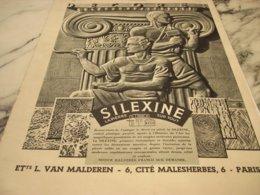 ANCIENNE PUBLICITE PEINTURE SILEXINE  1938 - Other Collections