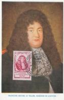 D38443 CARTE MAXIMUM CARD 1947 FRANCE - LE TELLIER MARQUIS DE LOUVOIS - GENERAL DES POSTES - SPEC. POSTMARK CP ORIGINAL - Post