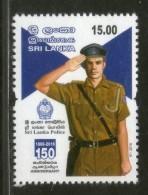 Sri Lanka 2016 Sri Lanka Police 150th Anniversary 1v MNH # 192 - Police - Gendarmerie