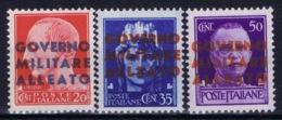 Italy:  Napoli   Sa 10 - 12  Postfrisch/neuf Sans Charniere /MNH/** - Anglo-Amerik. Bez.: Naples